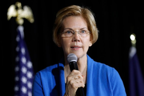 Photo by Charlie Neibergall/AP/REX/Shutterstock (10104385a) Sen. Elizabeth Warren, D-Mass., speaks to local residents during an organizing event in Cedar Rapids, Iowa. The nearly half-dozen Democratic senators also seeking their party's 2020 presidential nomination are facing a juggling act, crisscrossing the country while keeping an eye on their constituents and making it to votes in Washington Election 2020 Balancing Act, Cedar Rapids, USA - 10 Feb 2019
