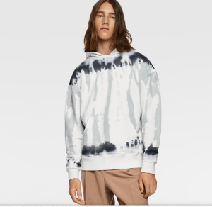 ZARA Tie Dye Hooded Sweatshirt $59.90