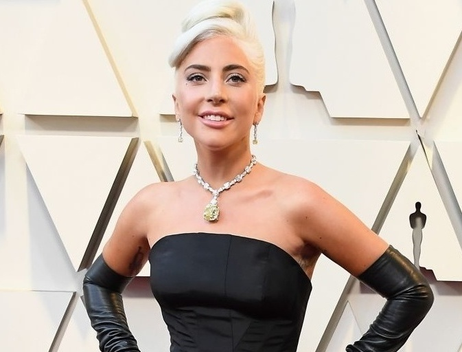 Lady Gaga in Alexander McQueen and Tiffany & Co.