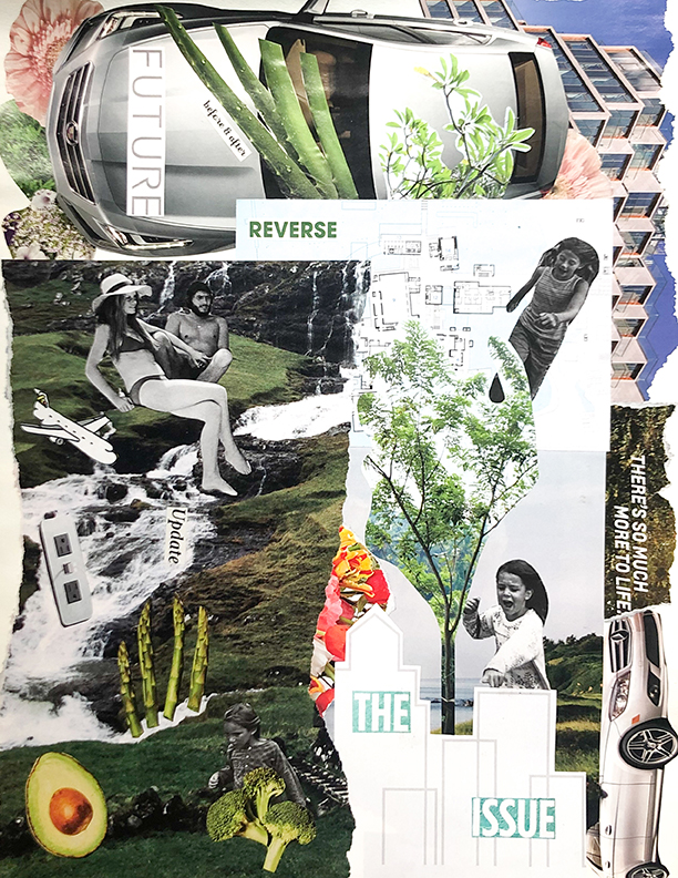 """""""There's So Much More to Life,"""" by Natalie Grace, Collage, 2019"""