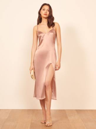 Reformation Britten slip dress