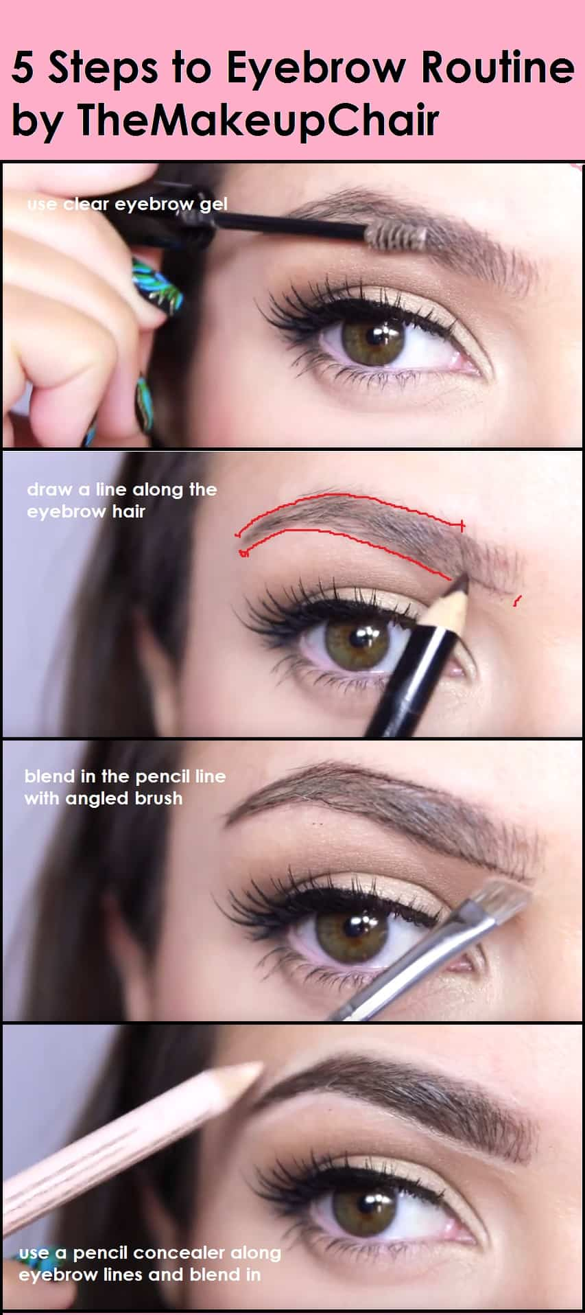 Follow these 5 steps to perfect eyebrow routine
