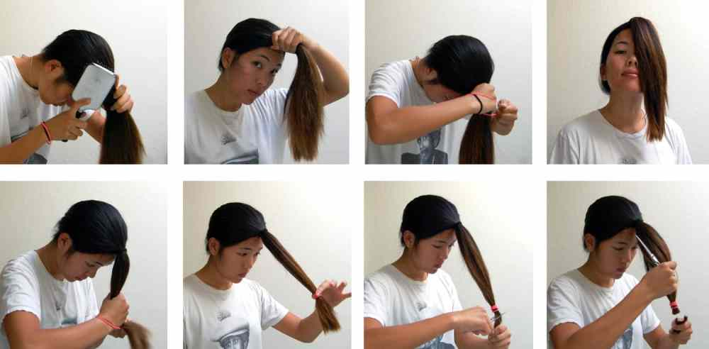 A diy layered haircut how to cut your hair at home blushy babe and a mirror solutioingenieria Images