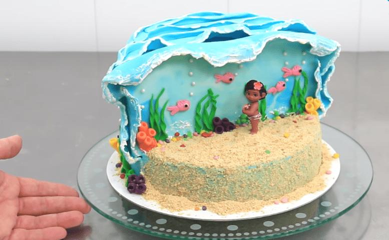 Simple Moana Disney Cake Blushy Babe