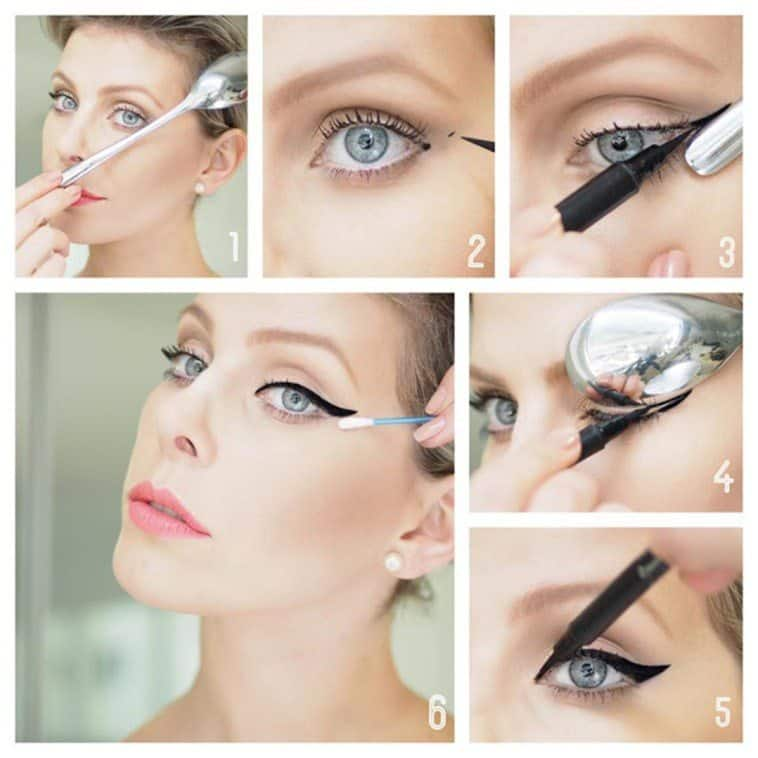 How you can use a spoon as a makeup instrument 2