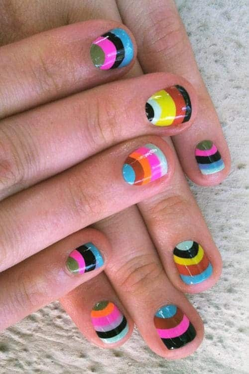 Some of the best Rainbow Nail Art Designs. 12