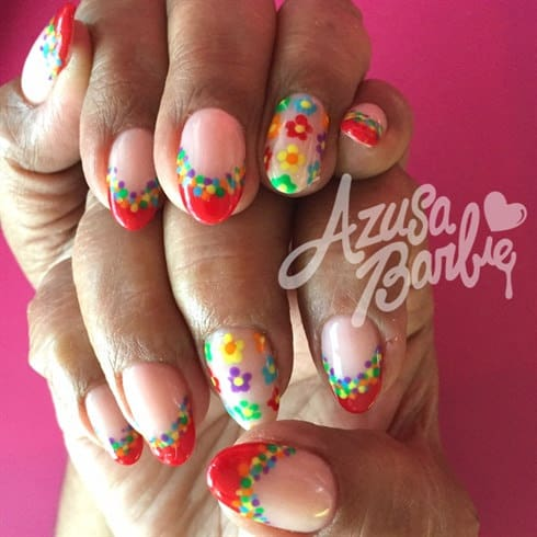 Some of the best Rainbow Nail Art Designs. 9