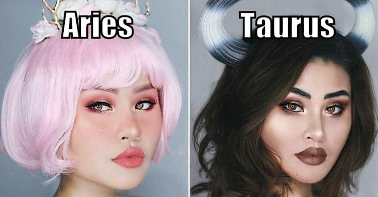Makeup look based on zodiac sign