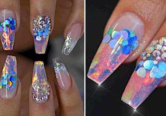 Must Try Out This Fire And Ice Nail Trend Right Now. 45
