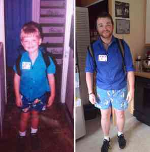 Growing up between the first and the last day at school. 4
