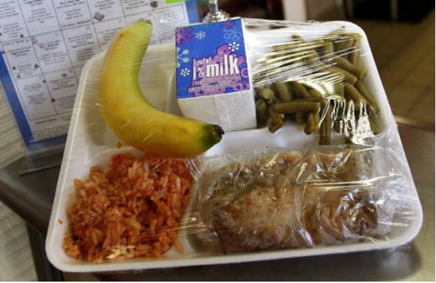 School cafeteria lunches at its worst. 4