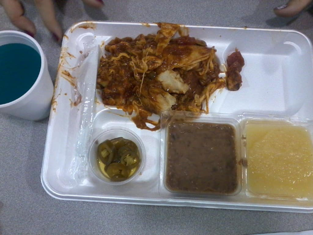 School cafeteria lunches at its worst. 12