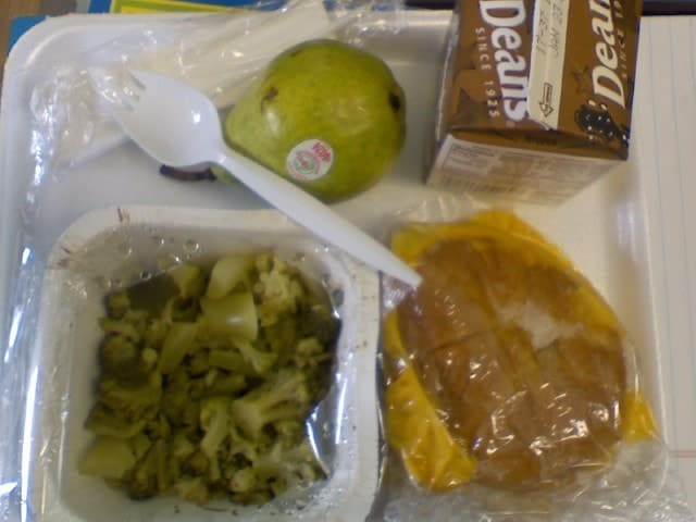 School cafeteria lunches at its worst. 13