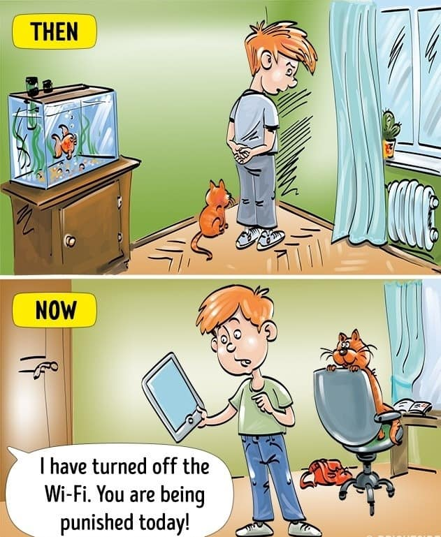 Comics Depicting The Differences In Today's Childhood From Our 1