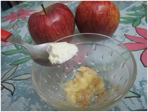 apple face pack for glowing skin