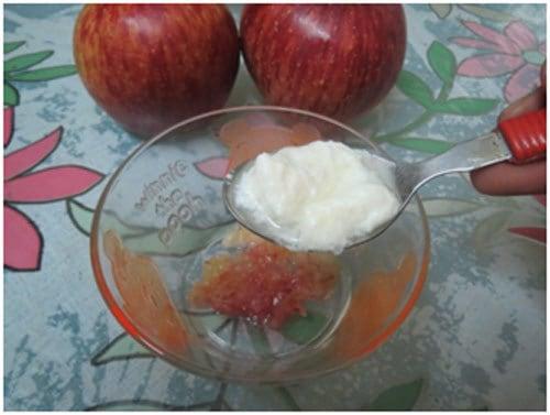 teaspoon of grated apple