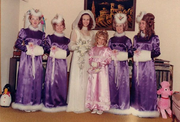 Some Of The Ridiculous Bridesmaid Dresses That Have Over Time 4