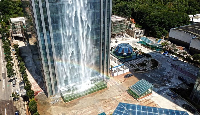 Chinese Built A Huge Human-Made Waterfall In Guiyang 3