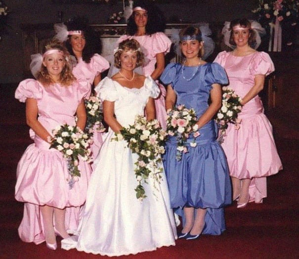 Some Of The Ridiculous Bridesmaid Dresses That Have Over Time 7