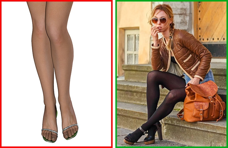 2 Ways To Combine Tights With Shoes And Clothes 8