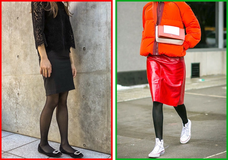 2 Ways To Combine Tights With Shoes And Clothes 7