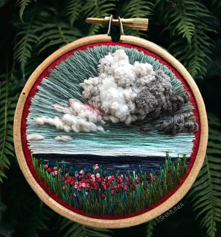 Embroidery into a masterpieces