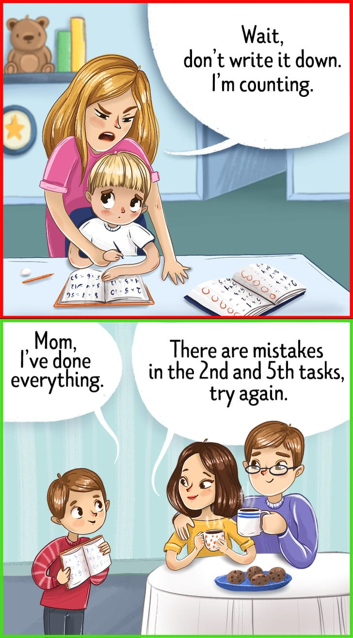 advice to the parents who do their kids homework