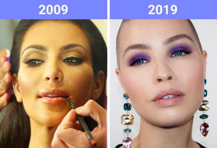 The Beauty Trends Of 10 Years Challenge Have Changed 9