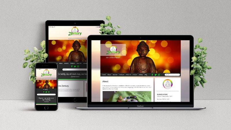 Zentury Natural Health Web Design