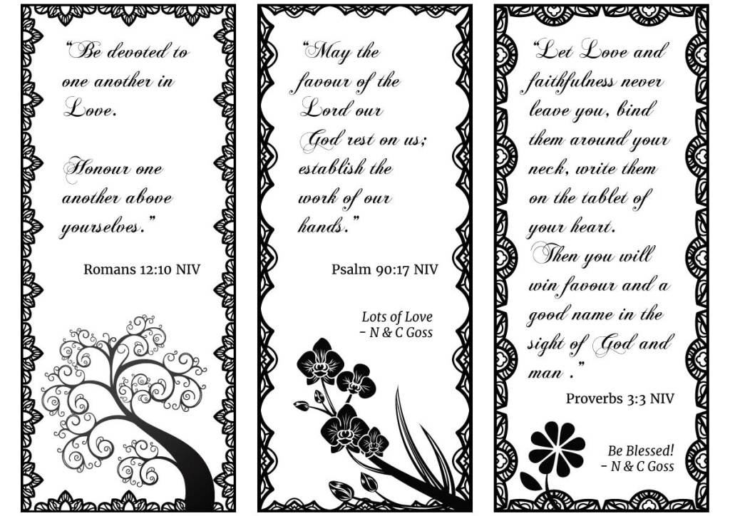 Wedding Bookmarks Design