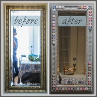 diy bottle cap mirror frame