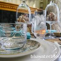 tiki style summer table ~