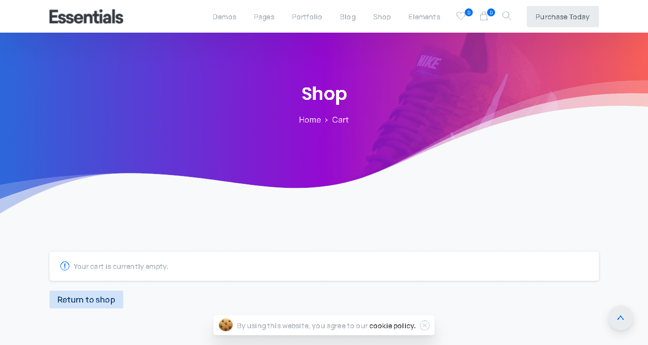 BUSINESS WEBSITE - CART PAGE
