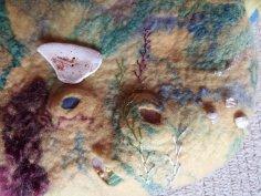 seashore felt bag wool silk shells blythwhimsies 7
