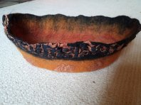 terracotta like oval bowl nuno silk wool side 2 blythwhimsies