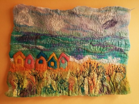 Southwold Beach Hut Felt Wall Hanging blyth whimsies 1 2016-05-17 10.55.00