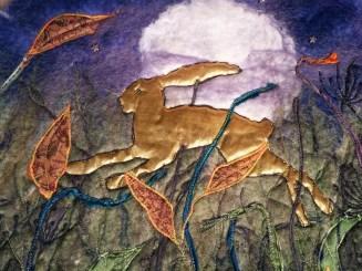 golden hare felt leaping full moon blyth whimsies detail 2016-07-28 17.14.23