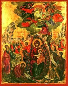 """Ікона Божої Матері """"Неопалима Купина"""""""