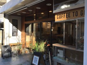 BROWNSOUNDCOFFEE 電源カフェ 入口 津田沼
