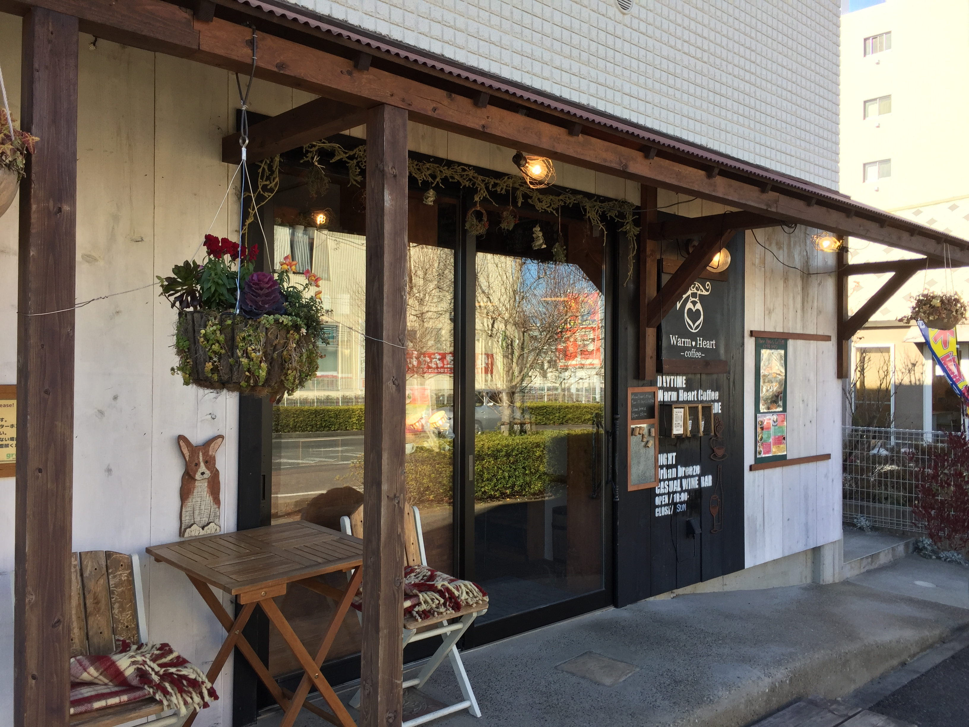 WarmHeartCoffee 電源カフェ 船橋 入口