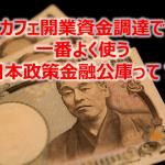 カフェ開業資金調達で一番使う日本政策金融公庫ってなに?