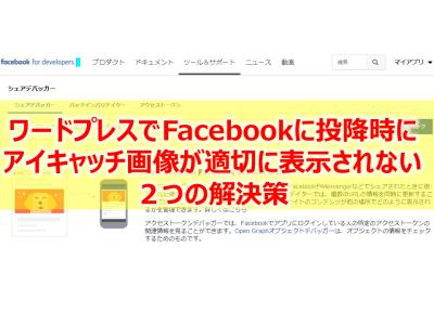 ワードプレスでFacebook投降時にアイキャッチ画像が思い通りに表示されない