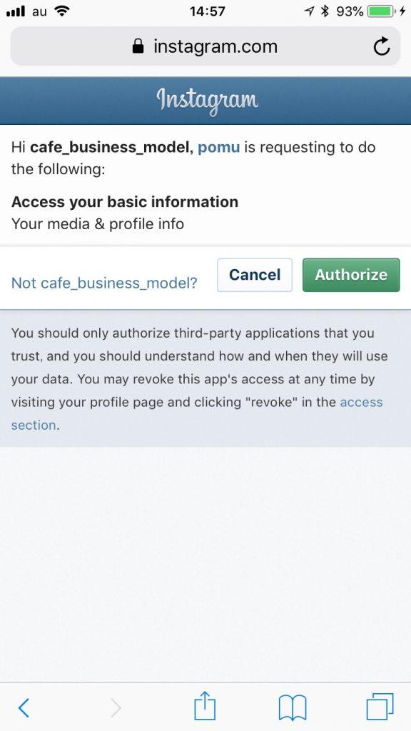 POME.ME instagramアカウント連携
