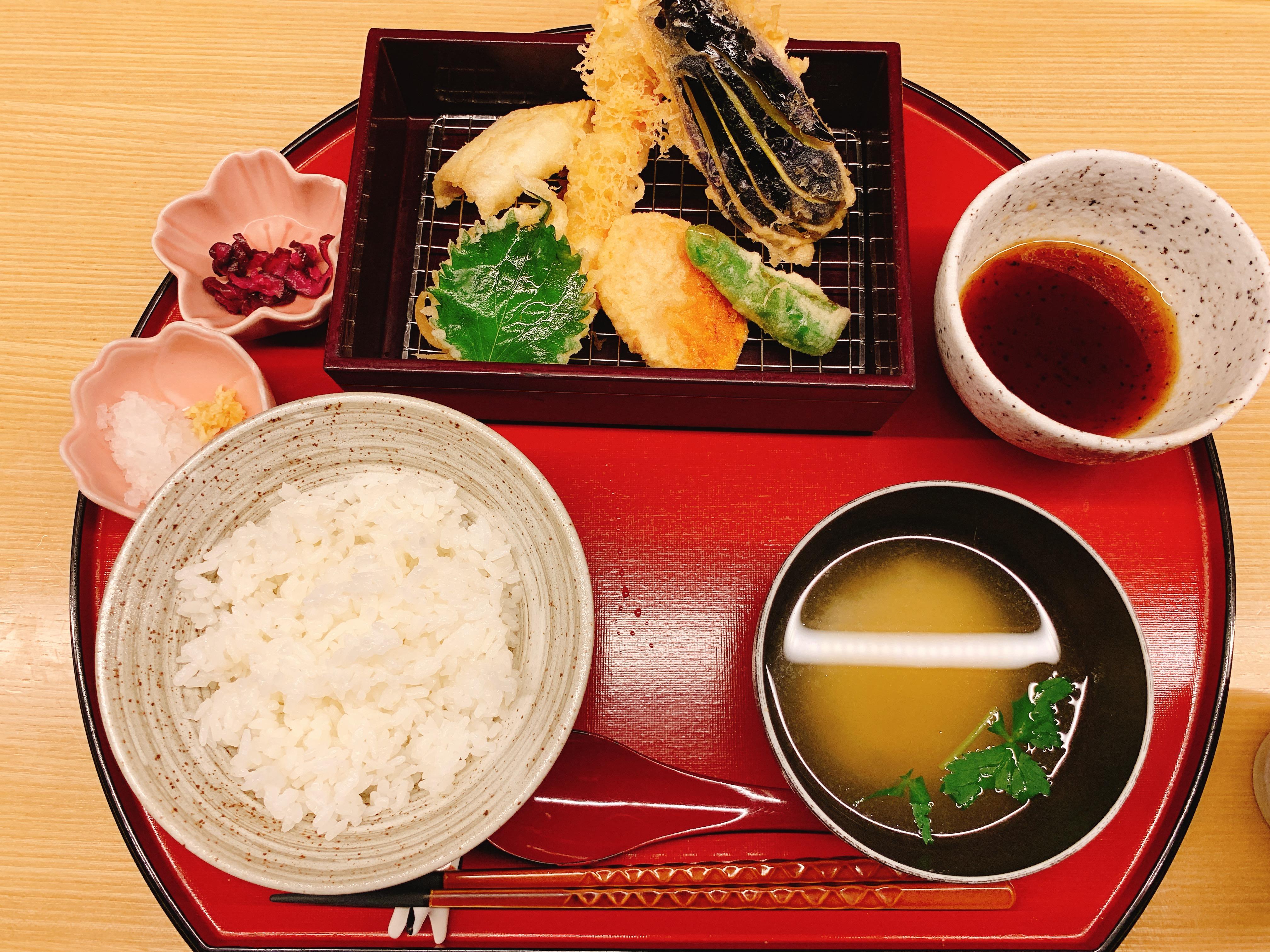 銀座 天ぷらやす田 ランチ 天ぷら定食