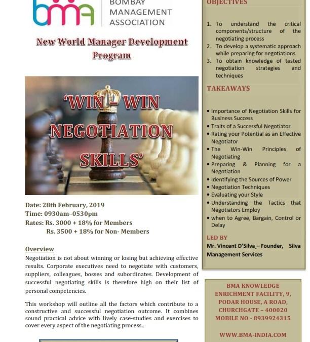 Win-Win Negotiation Skills