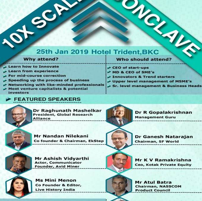 10X Scale Up Conclave'19