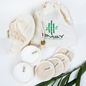 Close up Plant and Reusable Cotton Pads
