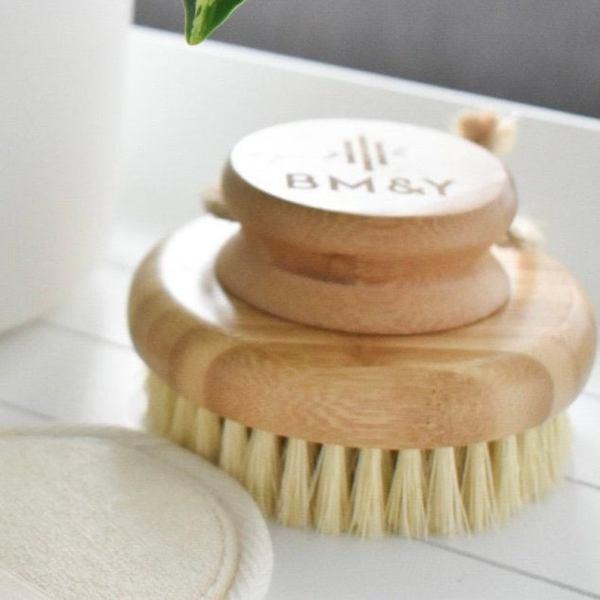 Dry bamboo body brush