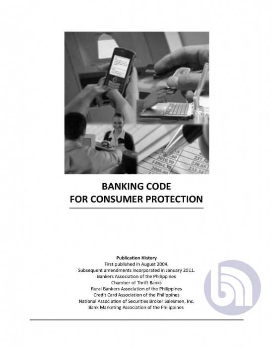 Banking Code for Consumer Protection