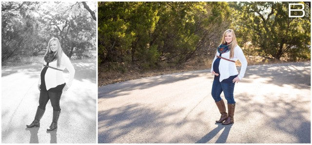 Nacogdoches photographer portraits of expecting couple in outdoor setting